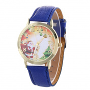 AMA(TM) Men Women Christmas Santa Claus Pattern Analogue Quartz Vogue Wrist Watch
