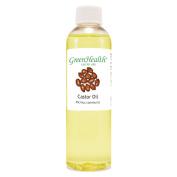 Castor - 4 fl oz (118 ml) Plastic Bottle w/ Cap - 100% Pure Carrier Oil - GreenHealth