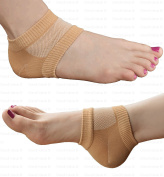 Medipaq Recovery Gel Heel Socks - Protects And Eases Sore And Damaged Heels - Walk Comfortably Again! 1X Pair