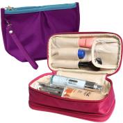 kilofly Double-Sided Make Up Cosmetic Bag Jewellery Travel Organiser [2pc Set]