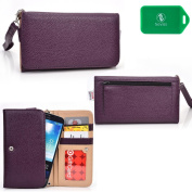 Purple Kroo Metro phone case wallet w/card slots and coin pocket| NEW SHIPS OUT OF USA| Universal design fits