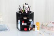 Bestrice 360 Degrees Rotating Cosmetics Storage Box DIY Multi Function Large Capacity Revolving Makeup Organiser Display Box