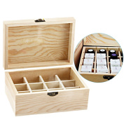 MLMSY Wooden Essential Oil Box Holder Essential Oil Bottles Carrying Case Perfect Essential Oils Case for Home and Travel