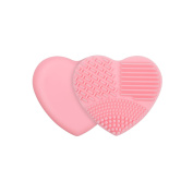 Docolor Makeup Brush Cleaner Heart Shaped Silicone Multi Texture Surface Cosmetic Cleaning Tools