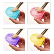 CY 1 set of 4ps Silicone Cosmetic Makeup Washing Brush Cleaner Finger Glove Hand Cleaning Tool