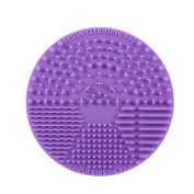 1pcs Dark Purple Silicone Mini Travelling Makeup Washing Brush Cleaning Mini Mat Scrubber Pad Makeup Brush Tool