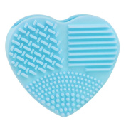 CoKate Makeup Brush Cleaner, 1PC Heart Shaped Makeup Brush Cleaner Cosmetic Brush Mat