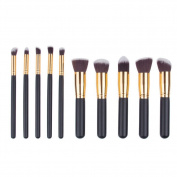 Makeup Brushes Set, Professional Face Makeup Brush Set Premium Cosmetics Foundation Blending Blushes Eyeliner Face Powder Brushes Facial Skin Care Brush Set Makeup Kit 10pcs,Golden