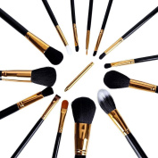 Maquita 15 Pcs Premium Synthetic Kabuki Makeup Brush Set Cosmetics Foundation Blending Blush Eyeliner Face Powder Brush Makeup Brush Kit