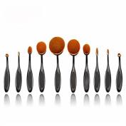 Walant 10 PCS Professional Toothbrush Oval Makeup Brush Sets ,Foundation Brushes Cream Contour Powder Blush Concealer Brush