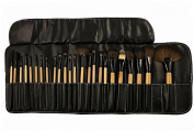 KOLIGHT® 24pcs Top Professional Wool Cosmetic Makeup Brush Set Kit Brushes & tools Make up Case