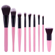 Yoyorule 9pcs Cosmetic Brush Makeup Brush Eyebrow Foundation Powder Brushes Set