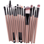 Bigban Women's professional 15 pcs/Sets Eye Shadow Foundation Eyebrow Lip Brush Makeup Brushes Tool