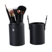 Makeup Brushes Set-PrettyQueen Professional 12pcs Make Up Brush Kit With Leather Cup Holder Makeup Tool Cosmetic Case Black