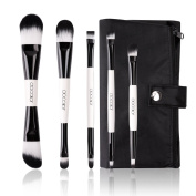 Docolor 5Pcs Makeup Brushes Set Foundation Eyeshadow Kits with Cases