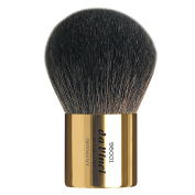da Vinci Cosmetics Series 96001 Kabuki Powder Brush, Round Natural Hair with Gold Freestanding Handle, Leather Case, 30ml