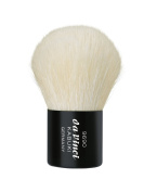 da Vinci Cosmetics Series 9690 Kabuki Powder Brush, Round White Natural Hair with Black Freestanding Handle Metal Travel Box