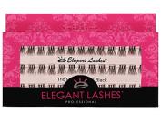 Elegant Lashes Trio Flare - X-SHORT Black Individual Lashes