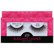 Elegant Lashes #148 Brown Thick Double-Layer Criss-Cross False Eyelashes