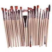 Sunfei 20 PCS Makeup Brush Set tools Make-up Toiletry Kit Wool Make Up Brush Set