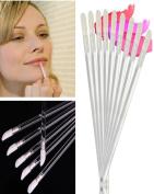 Moyishi 100PCS Disposable Makeup Lip Brushes Lipstick Gloss Wands Applicator Makeup Tool Kits