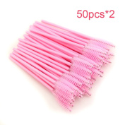 100pcs/lot New make up brush synthetic fibre Disposable Eyelash Brush Mascara Applicator Wand Brush Cosmetic Makeup Tool