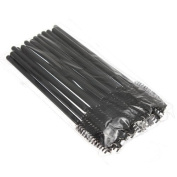 Newest trent New Arrival .  Disposable 9.5cm Black Eyelash Mascara Brushes Eyelash Mascara Wands for Make Up