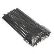 Newest trent New Arrival .  Disposable 9.5cm Black Eyelash Mascara Brushes Eyelash Mascara Wands for Make Up