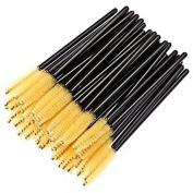 Goege Disposable Eyelash Black Mascara Wand Applicator Brush Cosmetic Eye Wands Brush Makeup Applicators