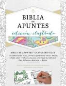 Rvr 1960 Biblia de Apuntes, Edicion Ilustrada, Blanco En Tela Para Colorear [Spanish]