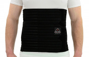 ITA-MED Men's Breathable Elastic Abdominal Binder, Black, 2X-Large