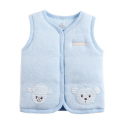 Baby Organic Cotton Warm Vests Unisex Infant to Toddler Light Padded Waistcoat