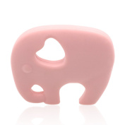 Ailams Elephant Baby Teether Ring,Food Grade Silicone BPA Free FDA Approved,Toddlers Teething Toy