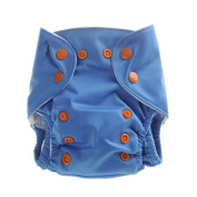 Baby Washable Cloth Nappies Pants Anti-leak Nappy Cover Pockets with 2 Inserts