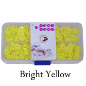 Seawhisper Starter Pack of 50 Complete Snaps/T5 Plastic Snap Fasteners Sets for Sewing Cloth Nappy/Bibs/Unpaper Towels/Nappies/Buttons/Mama Pads - A14 Bright Yellow
