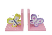 Hoddmimis Wooden Bookends Decorative Book Ends Kids Gift BBE01 Butterfly