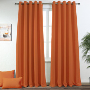 Ponydance Premium Solid Thermal Insulated Blackout Window Drapes Panel for Bedroom, 170cm x 230cm