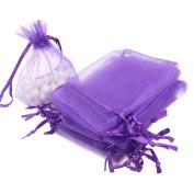 EXIU 100pcs Drawstring Organza Jewellery Pouches Wedding Candy Christmas Gift Bags