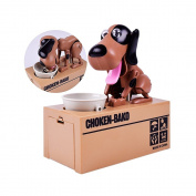 Just us Choken Bako Dog Bank Robotic Coin Munching Toy Money Box Dark Yellow