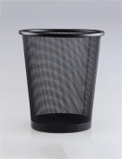 Stainless Steel Hollow Circular Hotel Office Trash Can (3 Colours)