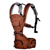 Hip Seat Baby Carrier - Advanced Lumbar Support 6-in-1 ( 6 Position ) , coffee colour