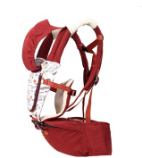 Hip Seat Baby Carrier - Advanced Lumbar Support 6-in-1(4 Position) , wine red
