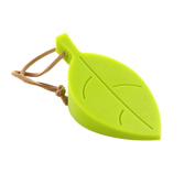 CoscosX Silicone Durable Leaf Stylish Door Stopper, Pinch-resistant Door Wedge Finger Protector, Keeps Door Securely Open, Green