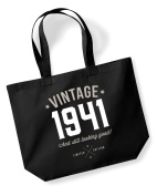 75th Birthday, 1941 Keepsake, Funny Gift, Gifts For Women, Novelty Gift, Ladies Gifts, Female Birthday Gift, Looking Good Gift, Ladies, Shopping Bag, Present, Tote Bag, Gift Idea