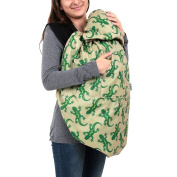 BundleBean babywearing:all-weather waterproof sling and carrier cover Green Sand Geckos