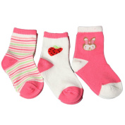 IGEMY 3 Pairs Newborn Cotton Lovely Baby Stocking