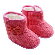 Rosennie Baby Bowknot Soft Sole Winter Warm Shoes Boots (12-24months