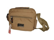 BUM BAG SHOULDER BAG MAN WOMAN SPORTS WITH PATELLA FRONT RECTANGULAR BEIGE