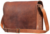 AANAND Leather Laptop Messenger Briefcase Crossover Shoulder Bag