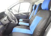 2 + 1 Seat Covers Black And Blue For Renault Traffic 2014 + Opel Vivaro/with table Seat Cover Covers Fit